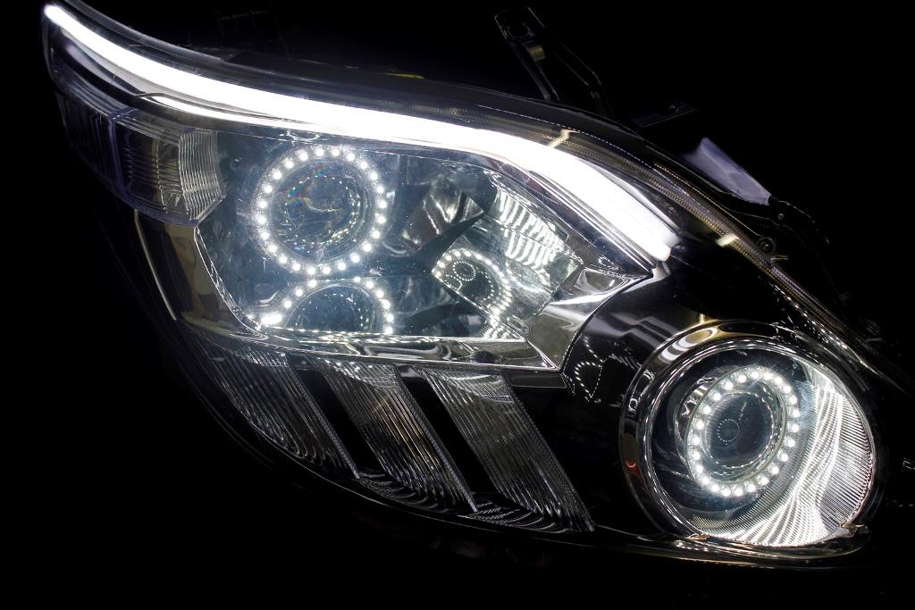 ANH20 アルファード ヘッドライト LED加工
