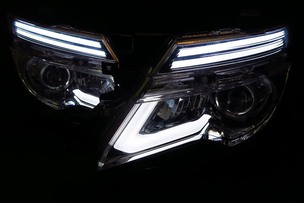 E52 エルグランド ヘッドライト LED加工