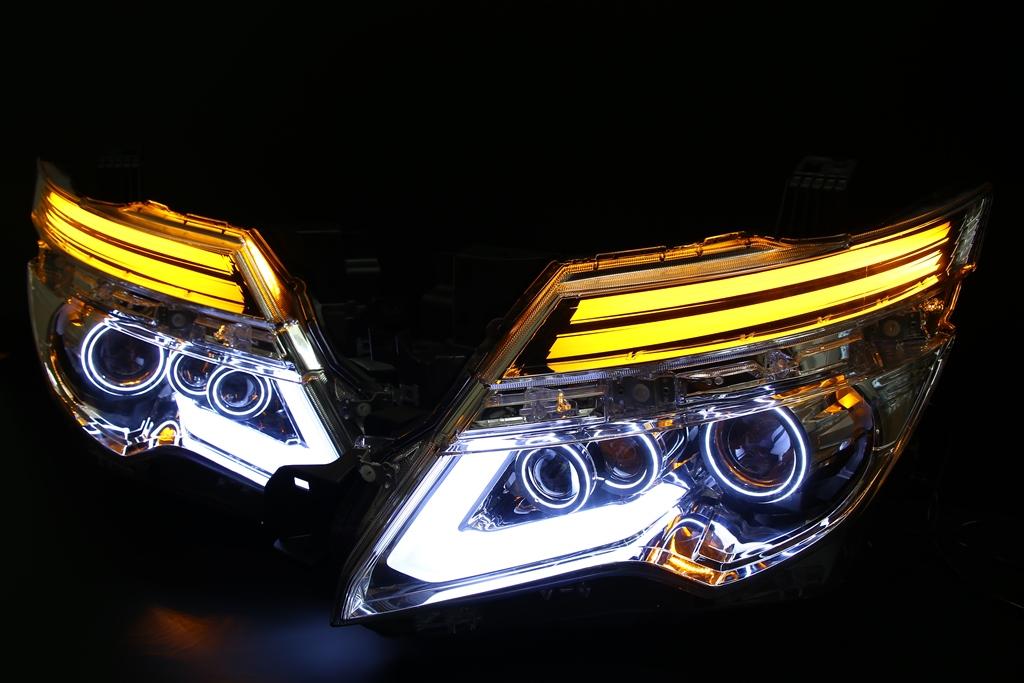 E52 エルグランド 後期 ヘッドライト LED加工 シーケンシャルウインカー