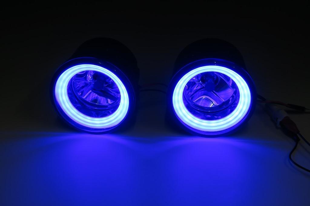 E52 エルグランド 純正加工LEDリングイルミフォグ