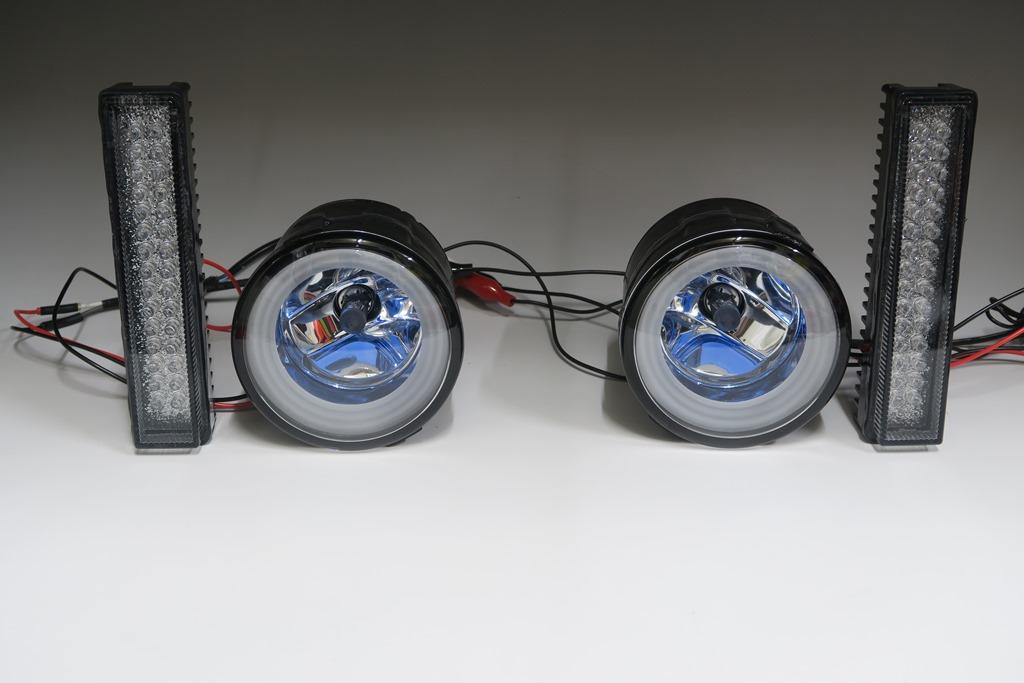 E52 エルグランド 純正加工 LEDデイタイムランプ LEDリングイルミフォグ