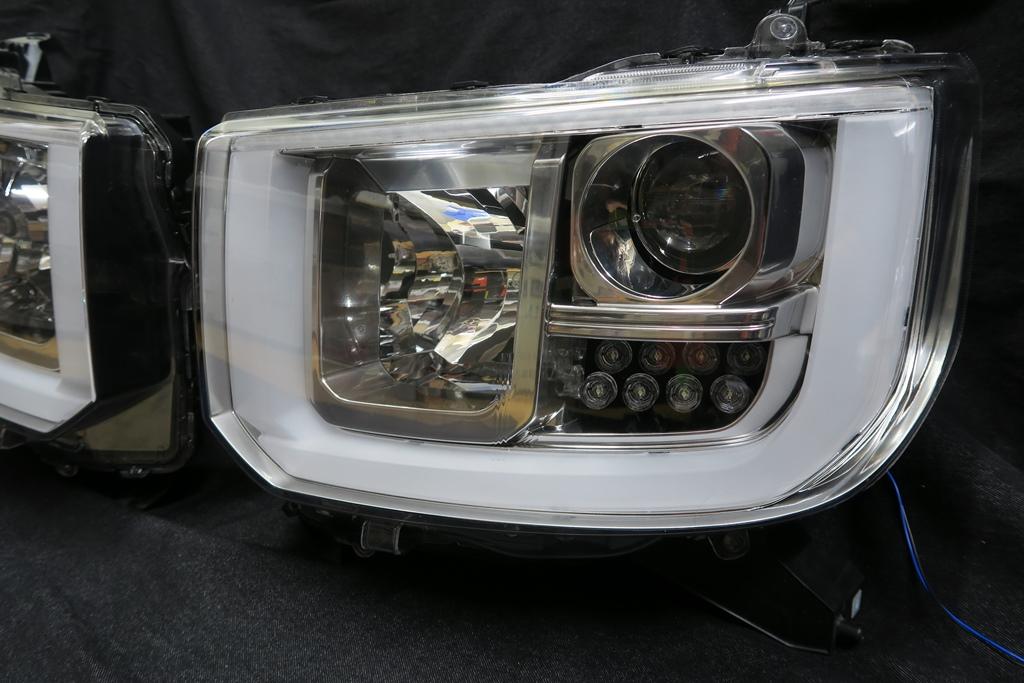 LA700S ウェイク LED シーケンシャルウインカー ヘッドライト加工